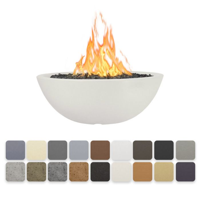"The Outdoor Plus Sedona Concrete Fire Pit - 60"" - Electronic Ignition OPT-SED60EKIT"