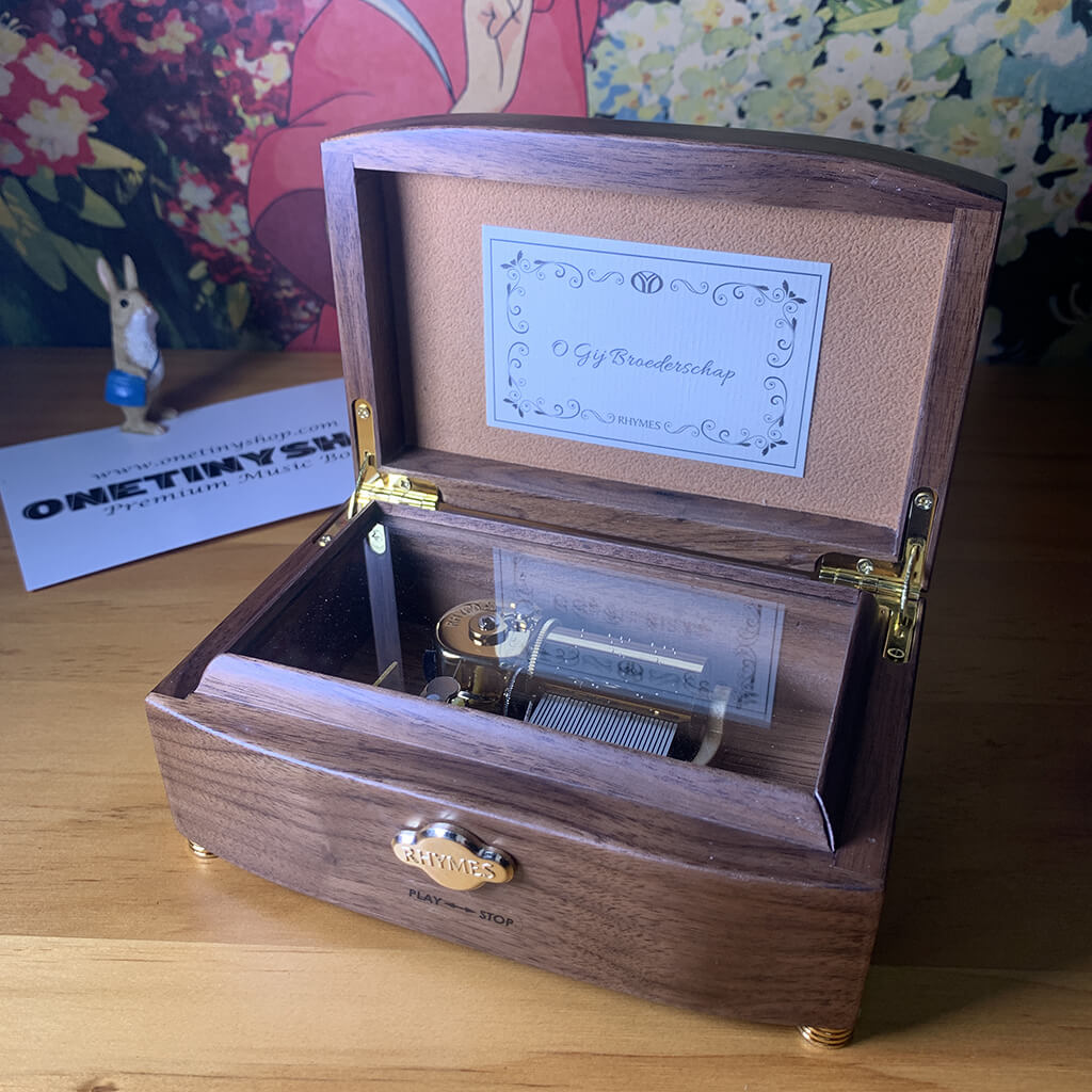 Customized 30 Note Your Name Wooden Music Box (Tune: Sparkle)