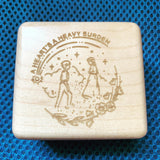 Wood Engraving Service for Wooden Music Box