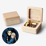 Premium Wooden Music Box (Tune: Merry Go Round of Life / The Promise of the World - Howls Moving Castle)