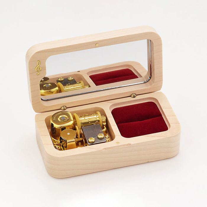 Premium Wooden Music Box with Ring Holder and ON/OFF Feature (Studio Ghibli Tunes Collection)