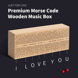 Premium Morse Code Wooden Music Box