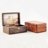 Premium La Vie En Rose Wooden Music Box with Photo Frame & Jewelry Box