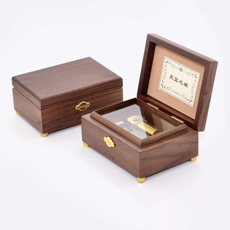 Customized 30 Note Lord of the Rings Wooden Music Box (Tune: Concerning Hobbits)