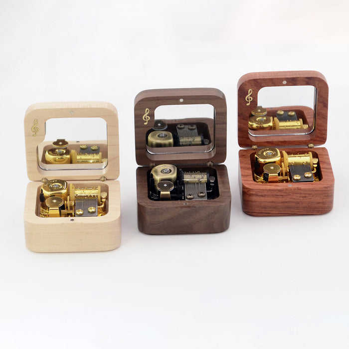Premium Wooden Music Box with ON/OFF Feature (Popular Anime/Movie/TV/Singer Tunes Collection)