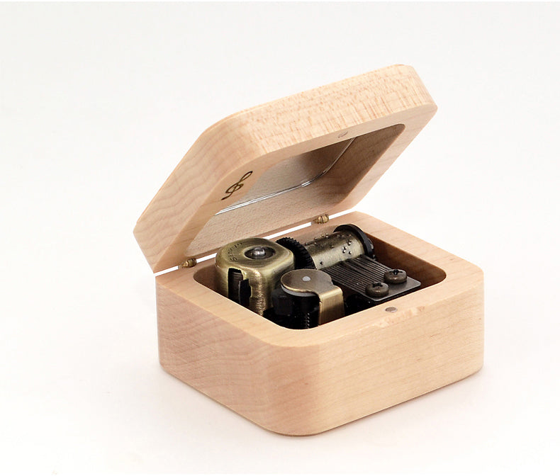 Premium Inuyasha Wooden Music Box with ON/OFF Feature (Tune: Affections Touching Across Time / Dearest)