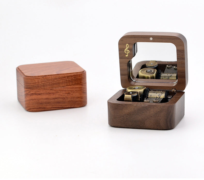 Premium Wooden Music Box with ON/OFF Feature (Studio Ghibli Tunes Collection)