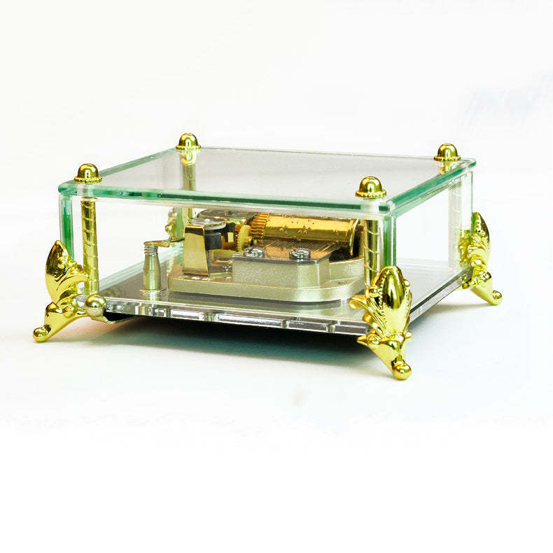 Stunning 30 Note Howl's Moving Castle Glass Music Box (Tune: Merry Go Round of Life)