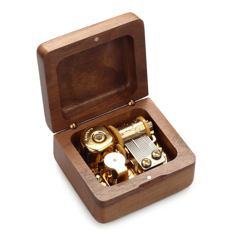 Premium Wooden Music Box (Ultimate Christmas Tunes Collection)
