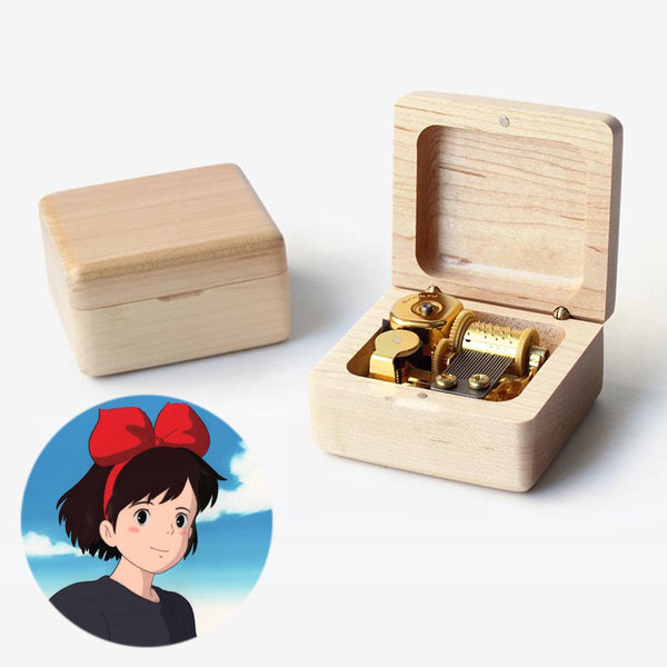 Kiki's Delivery Service Wooden Music Box (Tune: A Town with An Ocean View / If I've Been Enveloped by Tenderness)