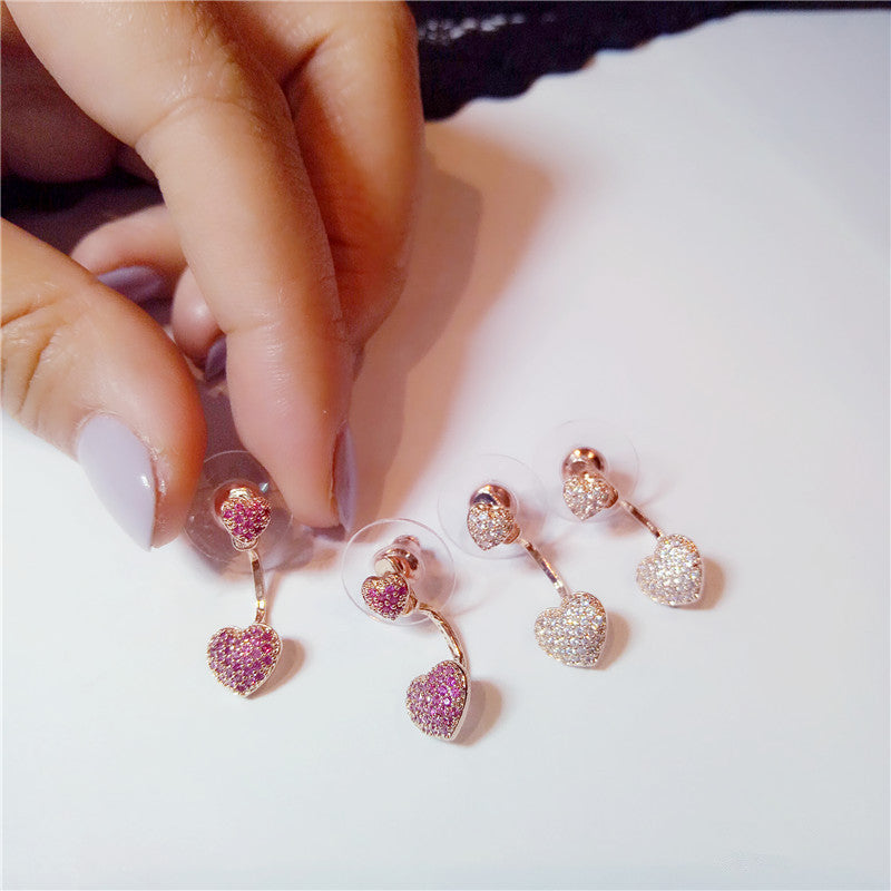 Cute Drop Earrings For Women Heart-Shaped S925 sterling-silver-jewelry