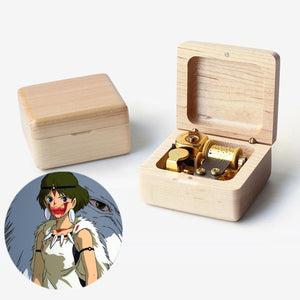 Premium Princess Mononoke Wooden Music Box (もののけ姫)