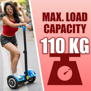 "10"" Blue Graffiti Segway with Handle - RAFWORLD"