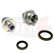 Bosch 044 Fuel Pump Inlet & Outlet Adapter Fittings STEEL 8 AN -8 E85 Compatible