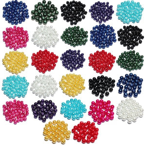 4 6 8 mm Multi-color Glass Beads Round Spacer Loose Beads  Jewelry Accessories