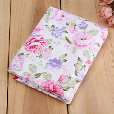 Cotton Pink Rose Flower Sewing Fabric Dolls Purse Handwork Patchwork Cloths