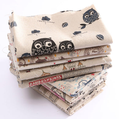 Cartoon Pattern Cotton Linen Fabric Cloth