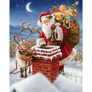 5 D Diamond Painting  Santa Father Xmas Cross Stitch Embroidery
