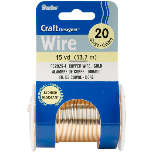 Wire 20 Gauge 15yd-Gold Colored Copper Wire