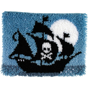 "Caron Wonderart Latch Hook Kit 15""""X20""""-Pirate Ship"