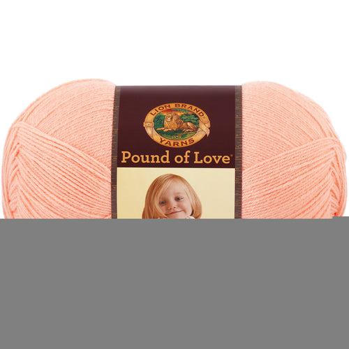 Lion Brand Pound Of Love Baby Yarn-Creamsicle