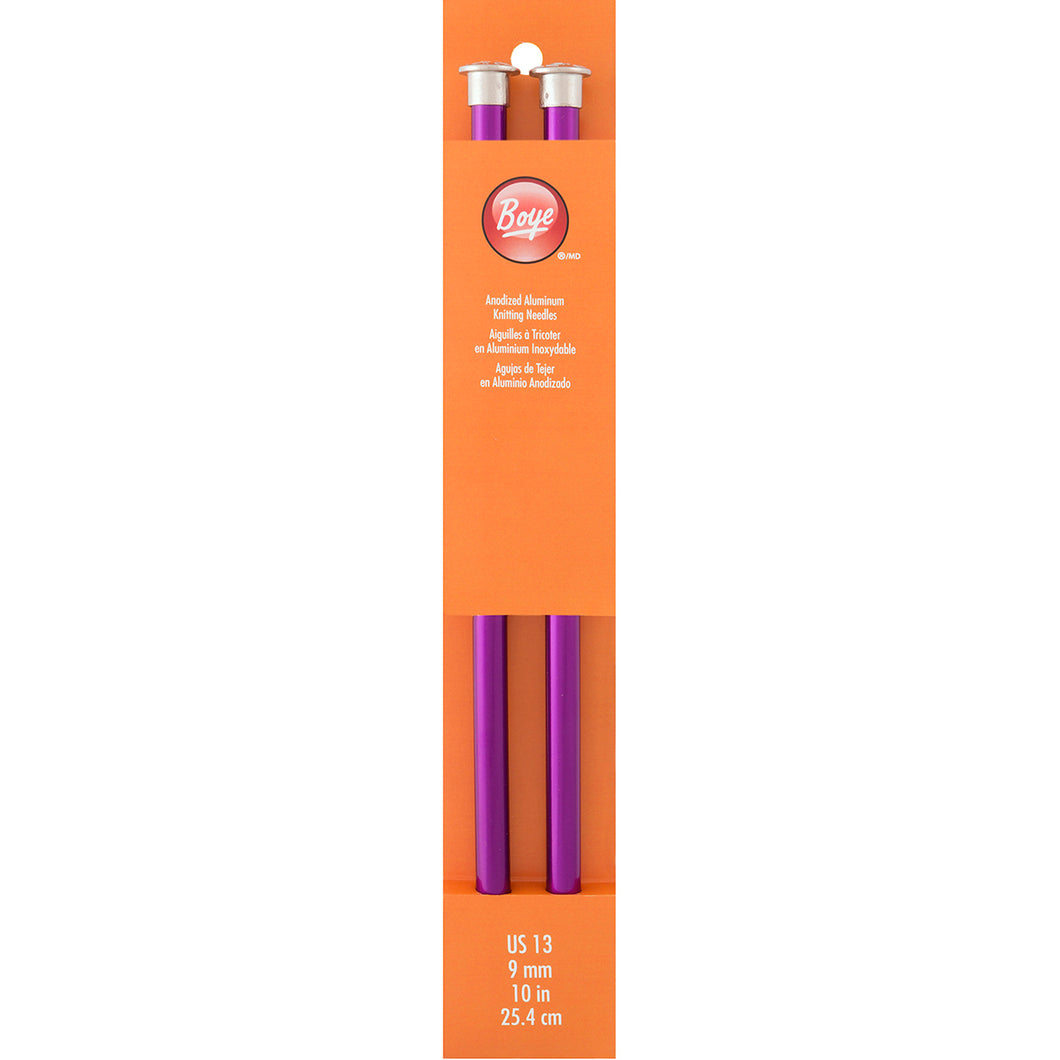 Boye Single Point Aluminum Knitting Needles 10