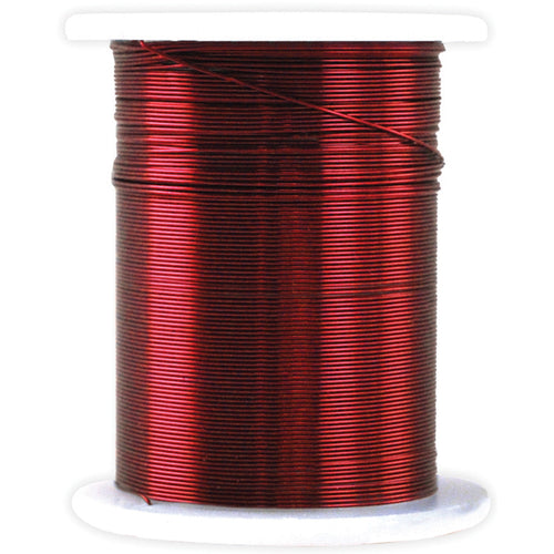 Metallic  & Jewelry Wire 28 Gauge 32'-Red