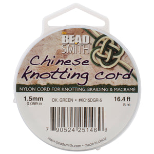 Chinese Knotting Cord 1.5mmX16.4'-Dark Green