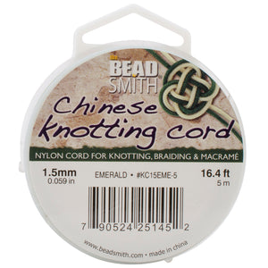Chinese Knotting Cord 1.5mmX16.4'-Emerald