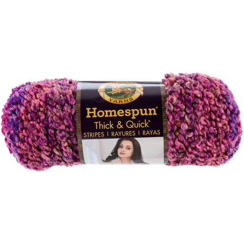 Lion Brand Homespun Thick & Quick Yarn-Sunset Stripes