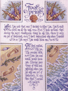 "Bucilla Counted Cross Stitch Kit 10.5""""X14""""-Footprints (28 Count)"