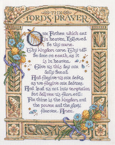 "Bucilla Counted Cross Stitch Kit 11.25""""X14.5""""-Lord's Prayer (14 Count)"