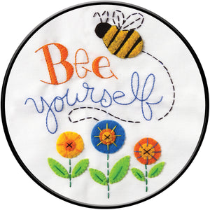 "Bucilla Stamped Embroidery Kit 8"""" Round-Bee Yourself"