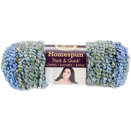 Lion Brand Homespun Thick & Quick Yarn-Lakeside Stripes