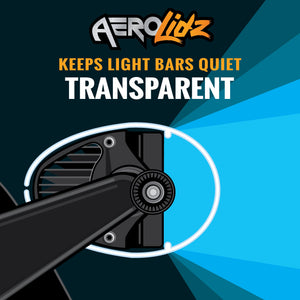 "AeroLidz - 50"" 52"" - Smoked - Dual Straight High Grade UV Poly-carbonate Light Bar Silencer"