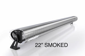 "AeroLidz - 20"" 22"" Smoked Dual Straight High Grade UV Poly-carbonate Light Bar Silencer"