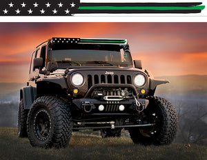 Thin Green Line American Flag Insert