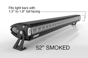 "Pre-Order AeroLidz - 50"" 52"" - SMOKED - Single Row LED Straight High Grade UV Poly-carbonate Light Bar Silencer"