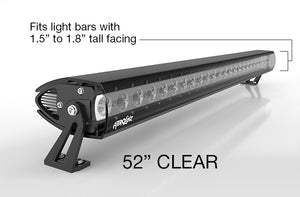 "Pre-Order AeroLidz - 50""/ 52"" - Clear - Single Row LED Straight High Grade UV Poly-Carbonate Light Bar Silencer"