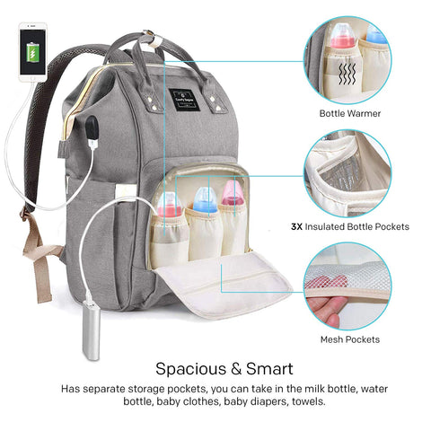 NAPPY CHANGING BACKPACK - GREY