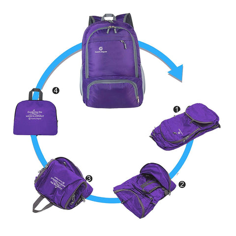 Comfy Degree Foldable Bag - Purple