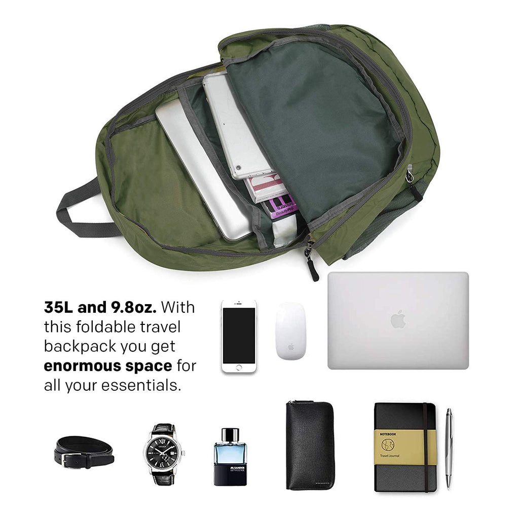 Comfy Degree Foldable Bag - Army Green