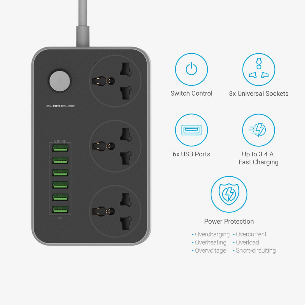 Impression series - 3 Way Universal Power Strips