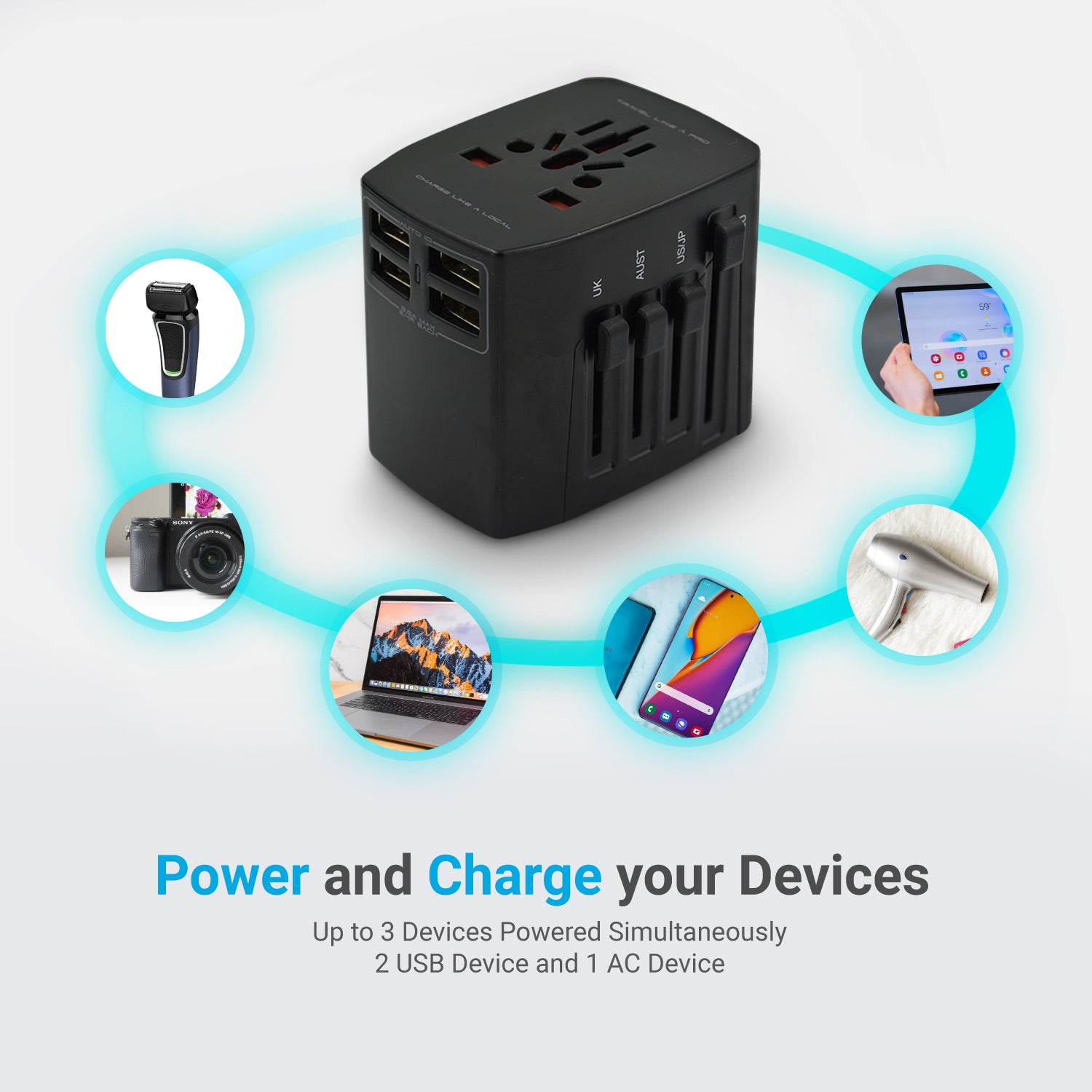 Buddies Solution Travel Adapter