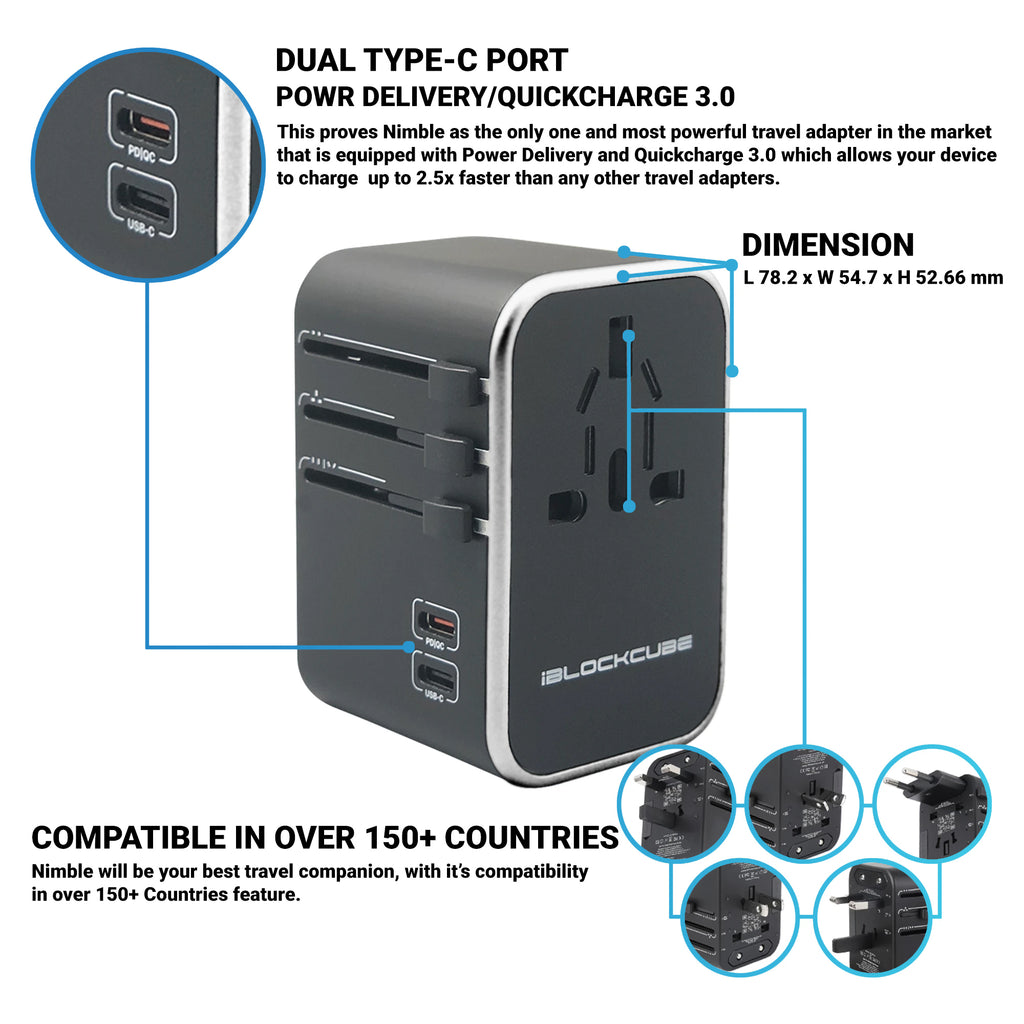 [Pre-Order] Nimble - Travel Adapter