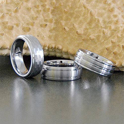 White Tungsten Rings