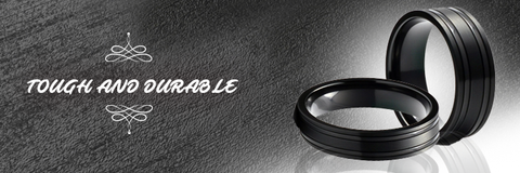 Black zirconium rings are very durable and come with a hardness level equal to that of sapphire