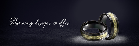Their rise in popularity as the most preferred wedding rings for men is because they are a combination of simple yet utterly expressive designs.