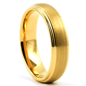 SARAH Tungsten Wedding Ring Women Men Domed Matte - Gaboni Jewelers