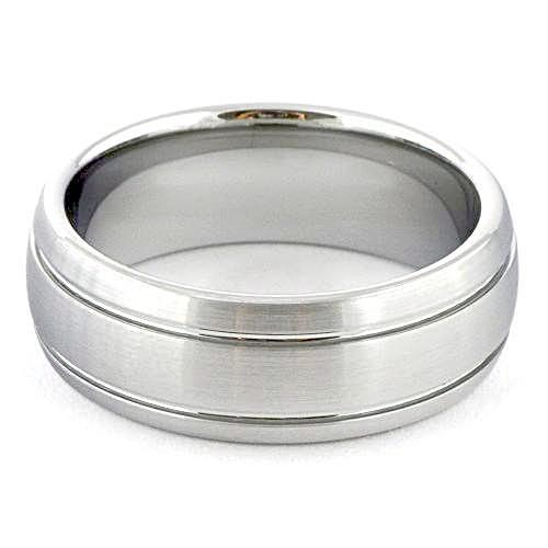 LORIS Dome White Tungsten Carbide Wedding Band - Gaboni Jewelers